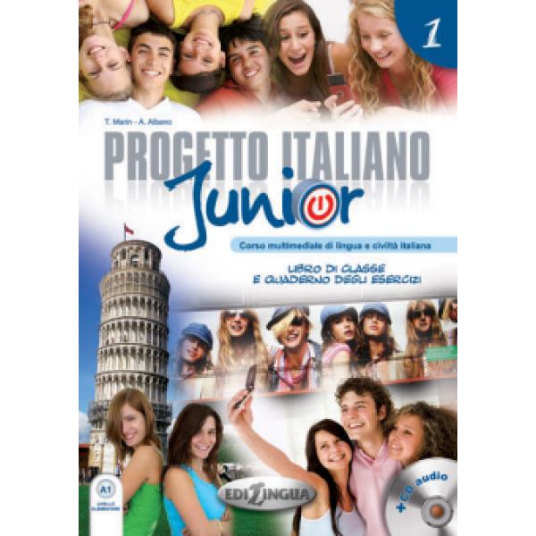 Progetto italiano Junior 1 (Libro di classe & Quaderno degli esercizi) + DVD Video