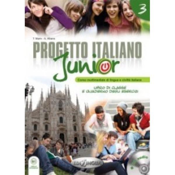Progetto italiano Junior 3 (Libro di classe & Quaderno degli esercizi) + DVD Video