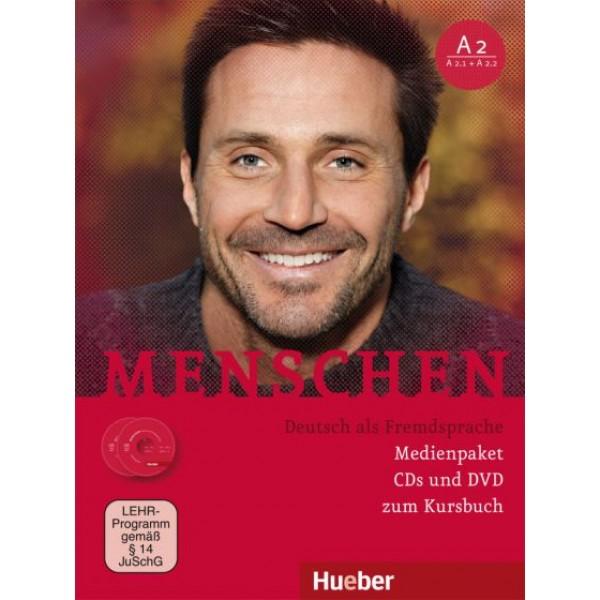 Menschen A2 - 2 Audio-CDs und 1 DVD zum Kursbuch / Medienpaket